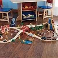 $30.30 KidKraft 农场小火车轨道玩具,超丰富配件